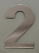 bFuller house number - brushed stainless