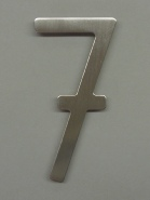 houseArt house number - brushed stainless
