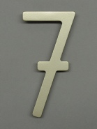 houseArt house number - satin silver